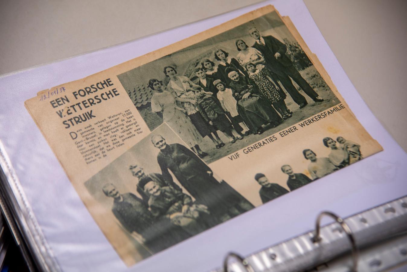 De Heemkundige Kring verzamelt krantenknipsels over Wetteren.