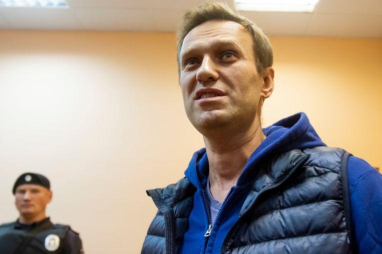 De Russische oppositieleider Aleksej Navalny. Beeld AP