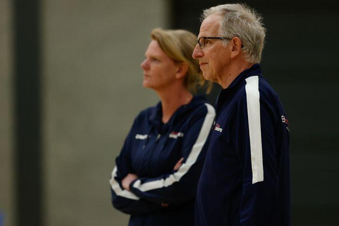 Jan Berendsen, met op de achtergrond Eurosped-coach Diane Rademaker.