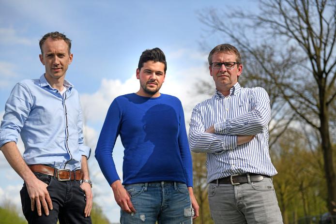 Van links naar rechts: Jeroen Bolks, Sjors Alberts en Hubert Boerrigter. © Annina Romita