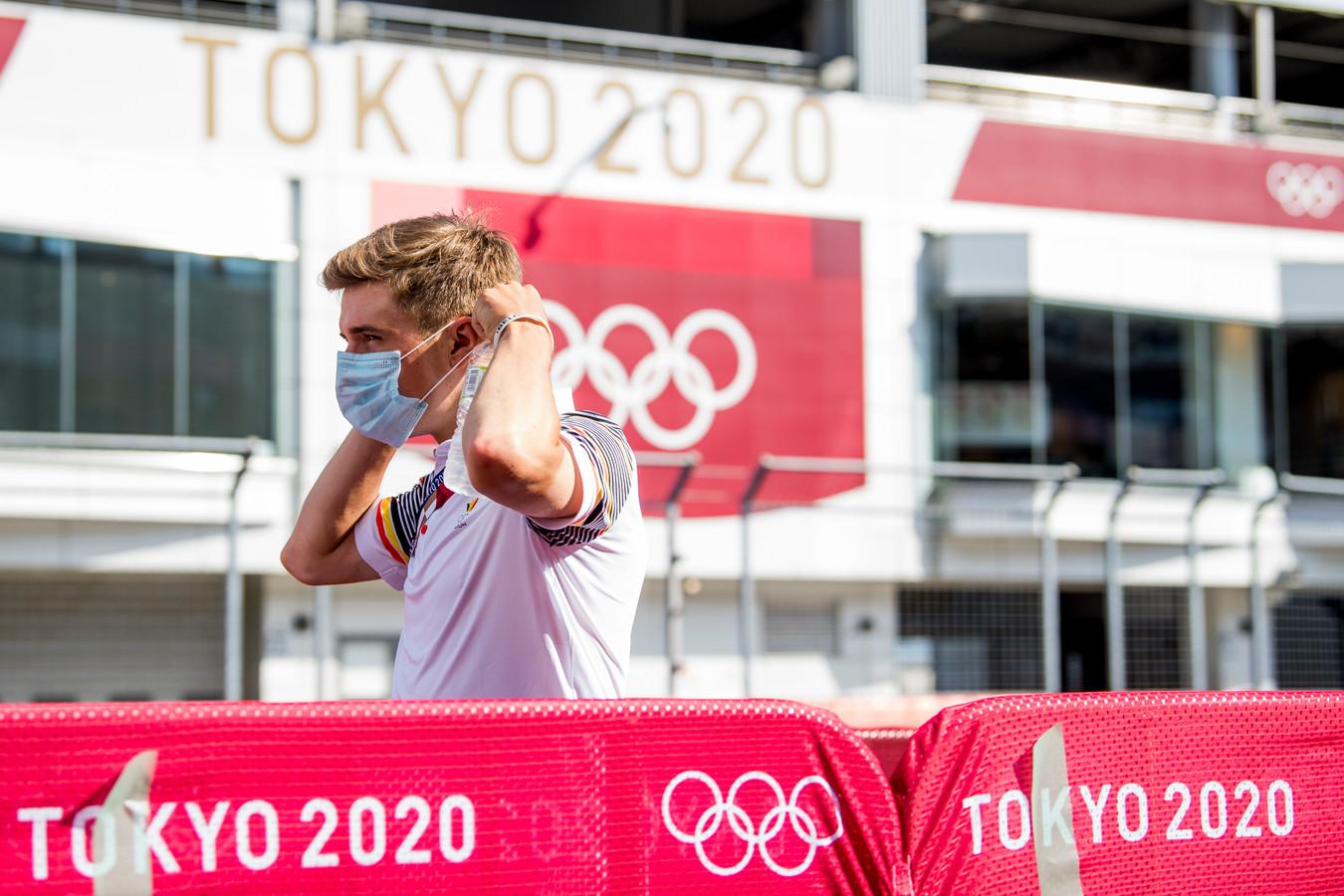 Comme Remco Evenepoel, de nombreux athlètes sont arrivés en avance à Tokyo pour s'acclimater.