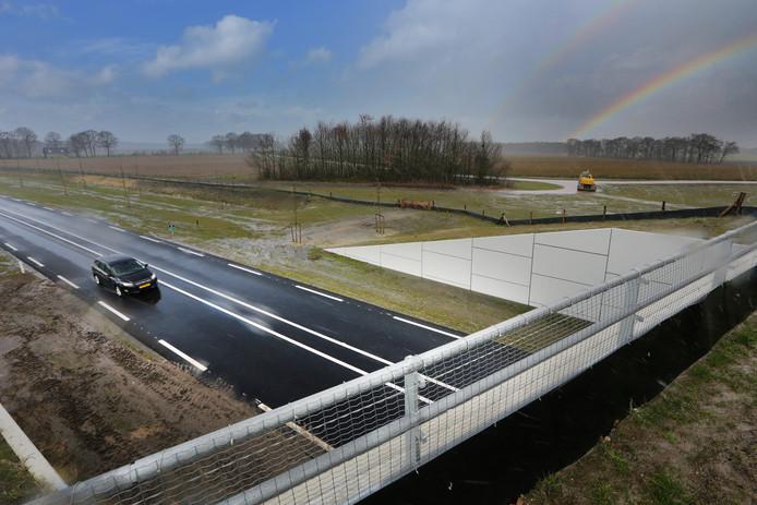 20190307 - Baarle-Nassau - De nieuwe randweg van Baarle-Nassau is eerder in gebruik dan verwacht. FOTO: PIX4PROFS/RAMON MANGOLD