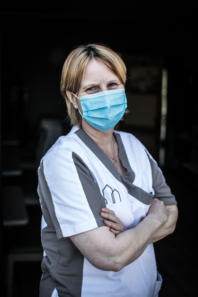 Het personeel van woon-zorgcentrum Orelia Ten Berge. Beeld Bas Bogaerts