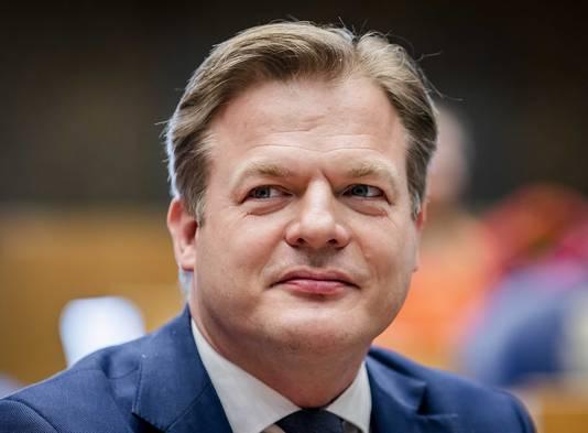 Pieter Omtzigt (CDA) eind maart in de plenaire zaal voorafgaand aan de beëdiging van de leden van de Tweede Kamer.