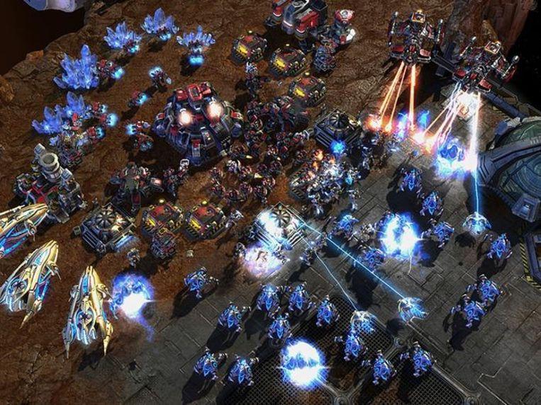 Een screenshot uit het spel StarCraft. Beeld