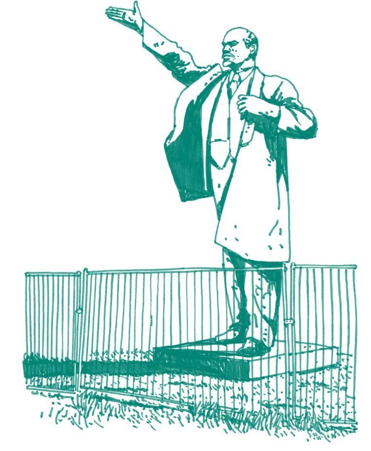 Een 9 meter hoog standbeeld van Lenin Beeld Joost Stokhof