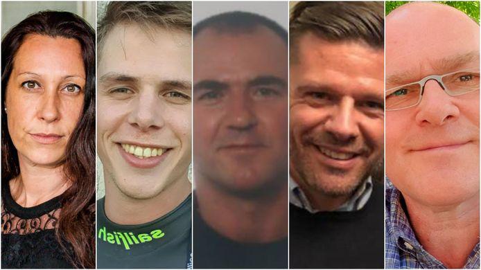 Vlnr: HR-adviseur Wendy Loockx, onderaannemer Tom Aerts, elektricien Werner Vermeylen, vertegenwoordiger Frederik Leyts en technisch manager Luc Coninckx.