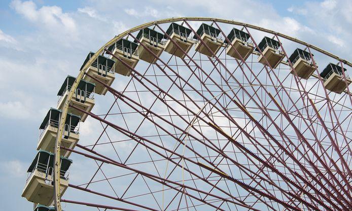 Dit model reuzenrad zal binnenkort te zien zijn in Attractiepark Rotterdam op Zuid.