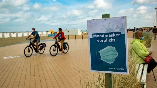 In drie kustplaatsen blijft mondmasker nog tot na de kerstvakantie verplicht