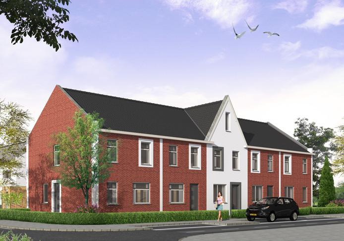 Een impressie van woningen die zijn gebouwd in het kader van een CPO-project.