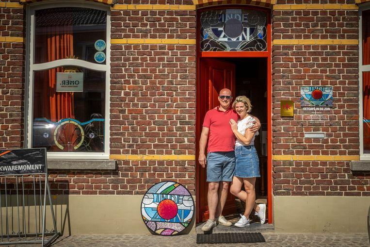 Thomas Derudder (37) en Maaike Goemaere (32). Beeld Jan De Meuleneir / Photo News