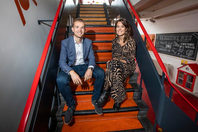 Poeldijk, Bernardolaan: Twee jonge basisschool directeuren in Westland; Xander Damen en Mandy Voois.