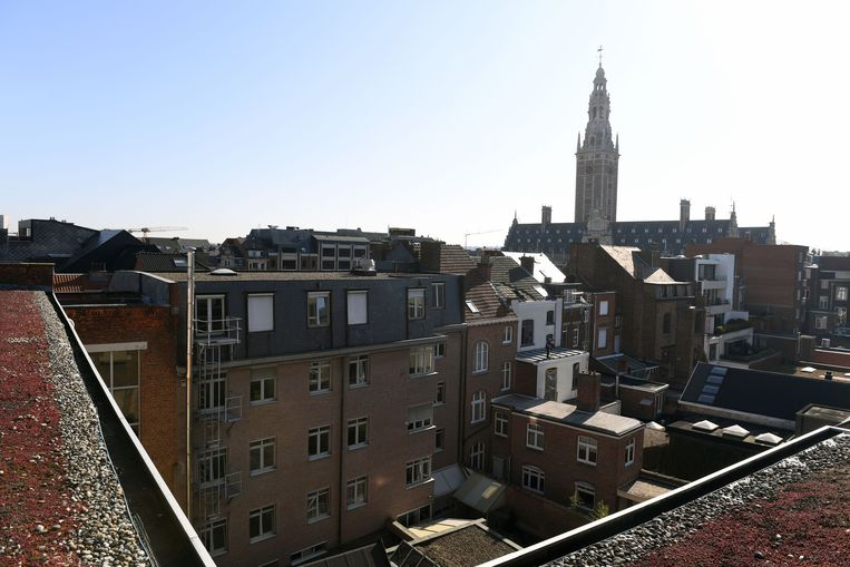 Leuven met de Universiteits bibliotheek. Beeld Vertommen