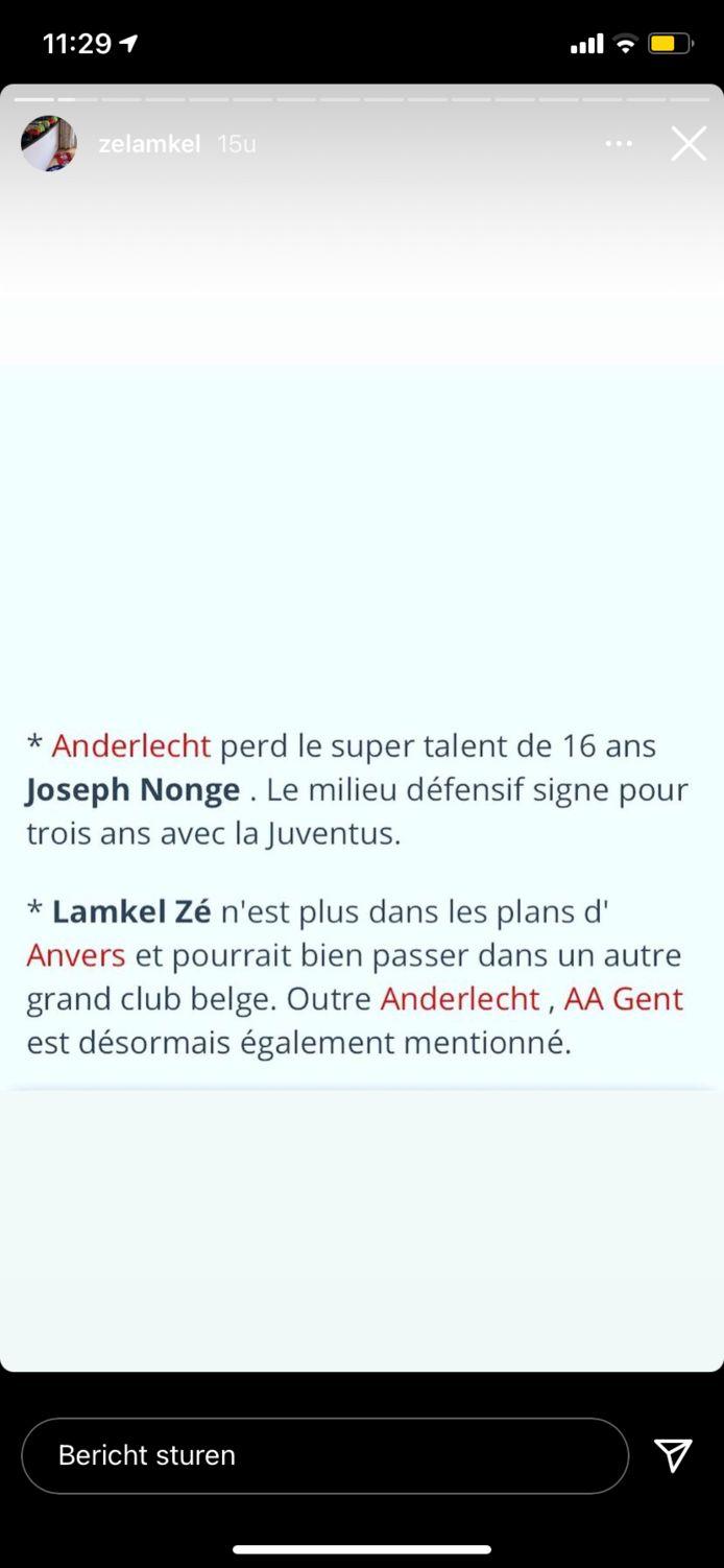 Lamkel Zé deelt de privéberichten van Anderlecht-fans.