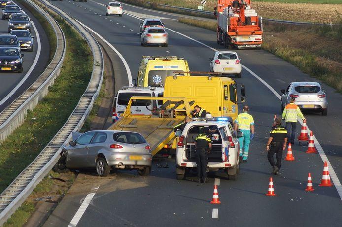 Ongeluk op de A59.