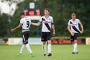 Jonas Heymans (rechts) als speler van FC Den Bosch, met in het midden een andere oud-Willem II'er: Bart Biemans.