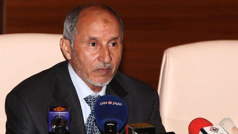 Voorzitter van de raad, Mustafa Abdel Jalil. Beeld afp