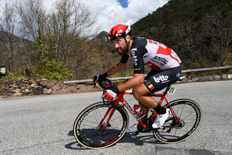 Thomas De Gendt op eeen Ridley-fiets.