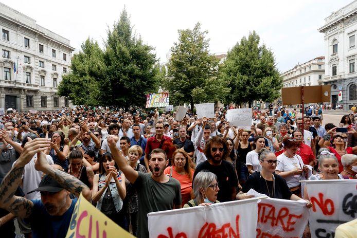 Protest op 31 juli.