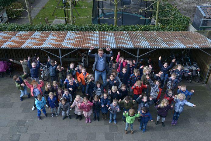 De Heilig Hart school in Dongen, tijdens het 100-jarig bestaan in 2018. De school neemt zijn intrek in het nieuwe IKC Beljaart.