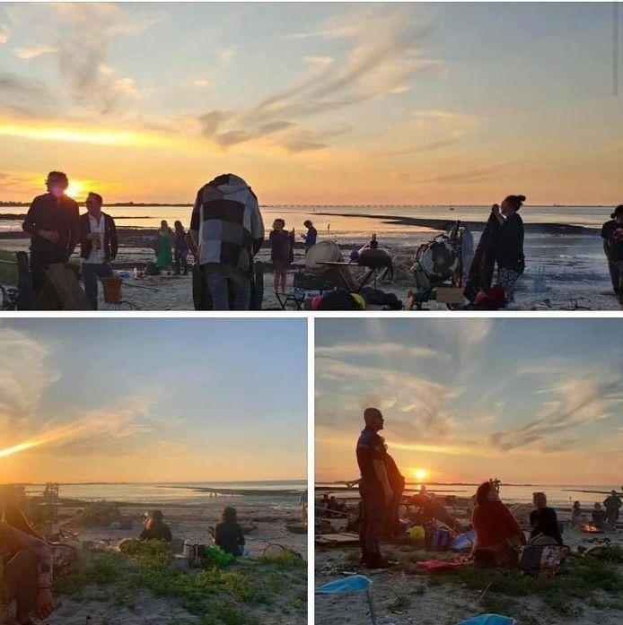 Politie en boa's maken een einde aan de zonnewende op het strandje bij Goese Sas.