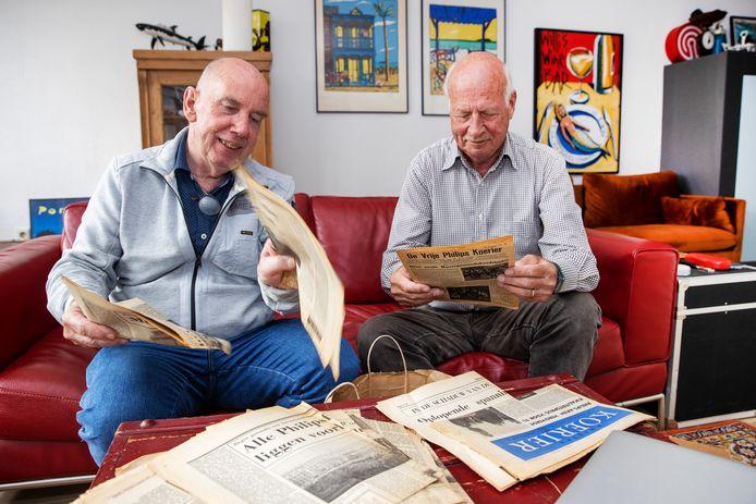 Jan de Waal (links) en Han Nieman hebben historisch materiaal uit WOII op internet gezet.