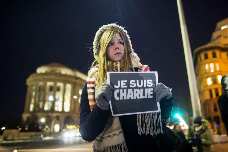 #JeSuisCharlie in Washington DC.