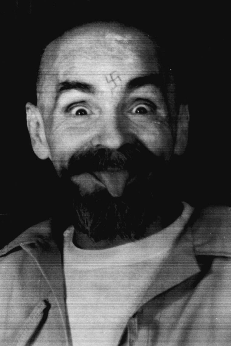 Charles Manson in 1989. Beeld Reuters