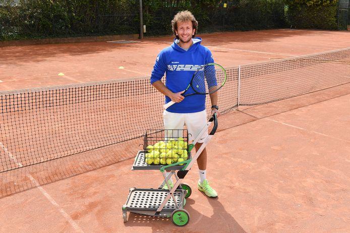 Kenny Herscovici legt de lat hoog als tennistrainer. In 2023 wil hij trainer A zijn.
