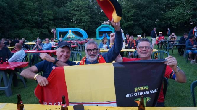 """Eerste match van de Belgen in EK-dorp in Zwevezele verloopt rustig: """"Door de coronamaatregelen is de sfeer niet hetzelfde, maar voetbal zal mensen weer samen brengen"""""""