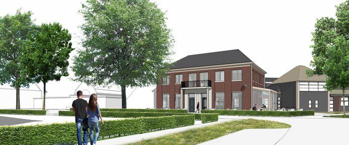 Zo moet de wederopbouw in het dorpshart van Lierderholthuis eruit zien.