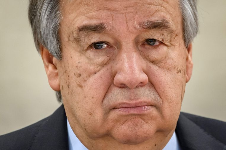 De oproep tot een wereldwijd staakt het vuren door VN-secretaris-generaal Antonio Guterres (foto) in maart lijkt grotendeels aan dovemansoren gericht te zijn geweest. Beeld AFP