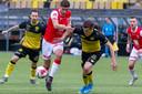 Roda JC, hier in de derby tegen MVV, zit in zwaar weer.