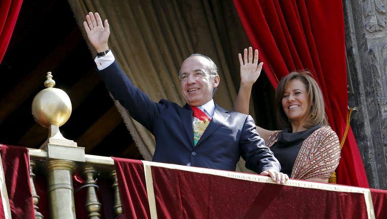 Felipe Calderon (links) en Margarita Zavala.