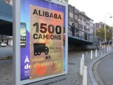 Des affiches placardées à Liège pour manifester contre l'implantation d'Alibaba
