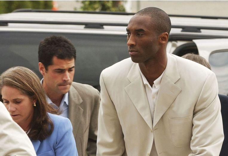 Los Angeles Lakers ster Kobe Bryant in 2003 bij het proces.