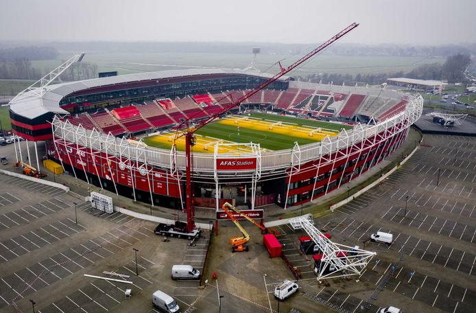 Het AFAS-stadion in december na de herstellingswerken.