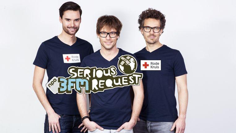 Vlnr: Domien Verschuuren, Giel Beelen, Paul Rabbering Beeld 3FM
