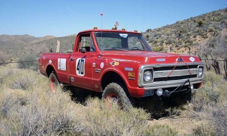 Steve McQueens Chevrolet C/10 Baja racetruck uit 1969. Beeld AP