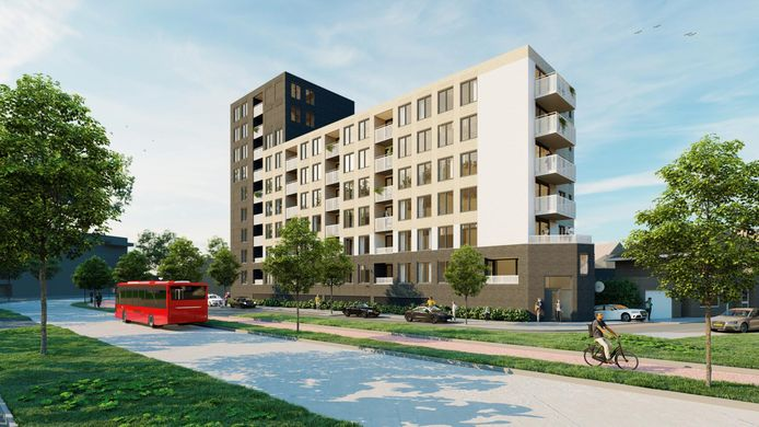 Nieuw wooncomplex aan de kop van de Zuiderval telt 64 appartementen.