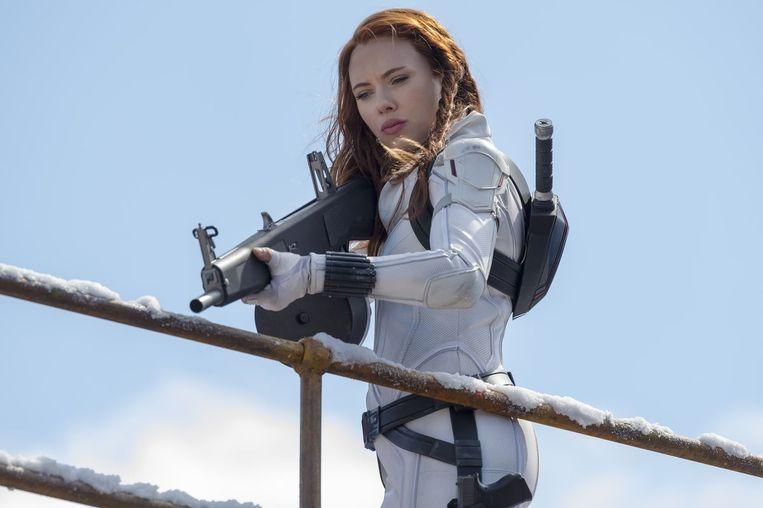 Scarlett Johansson in Black Widow.  Beeld