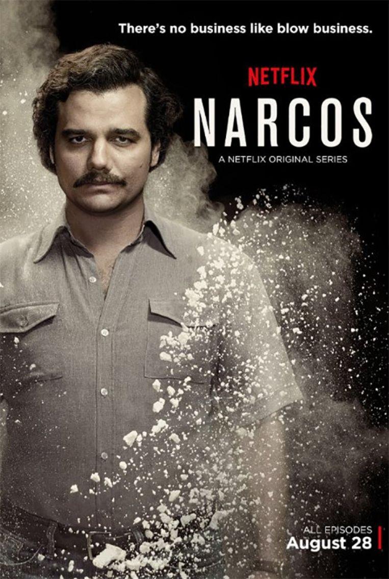 Wagner Moura is een heel overtuigende Pablo Escobar. Beeld Netflix