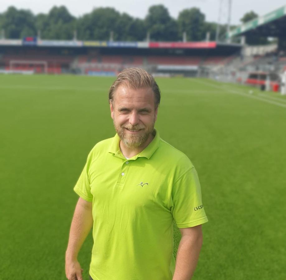 Jorn Rommens (41), uitvoerder in de sportveldenbouw bij CSC Sport.