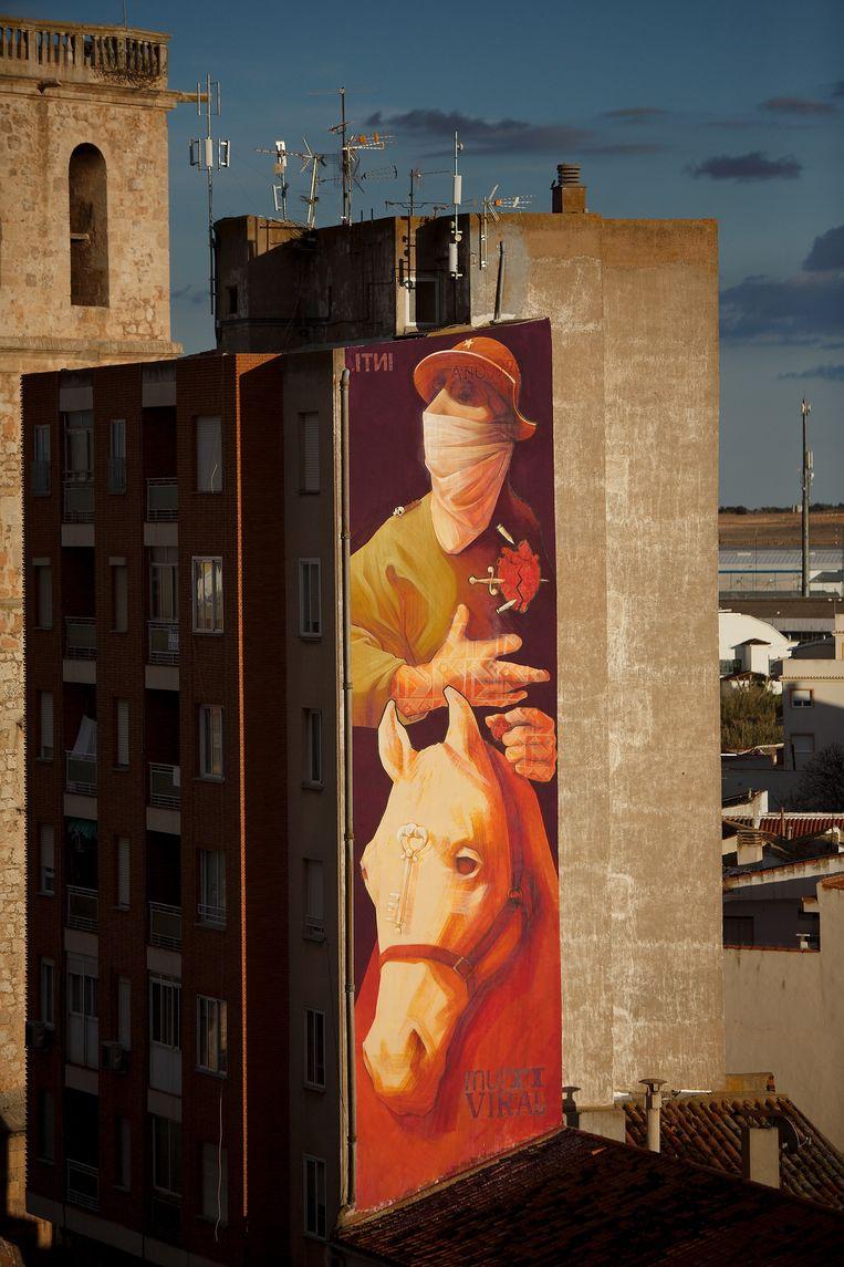 'Don Quichote' van Inti in Quintanar de la Orden (Spanje). Beeld © Getty Images