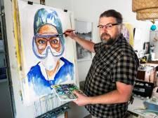 'Verplegend kunstenaar' Marco (50) uit Utrecht schilderde 25 corona-frontwerkers: 'Wat hebben hun ogen allemaal gezien?'