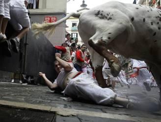 'Slechts' vier gewonden bij eerste stierenloop Pamplona