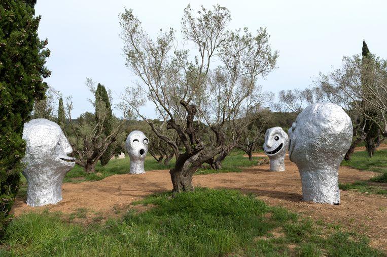 'Four Seasons' van Ugo Rondinone.  Beeld Marc Domage
