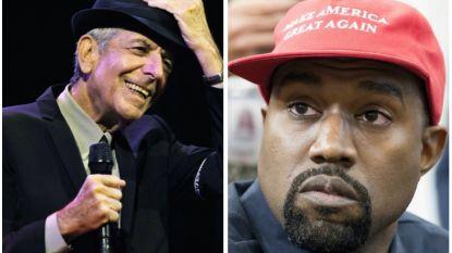 """Leonard Cohen maakte een gedicht over Kanye West: """"Hij is Picasso niet"""""""