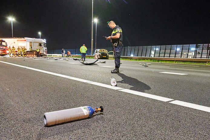 Ongeval op A16 bij Breda.
