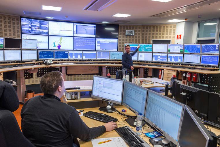 In de controlekamer bij Nuon/Vattenfall. Beeld RV